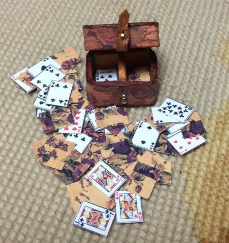 Box Playing Card Container Case 1:12 Dollhouse Miniature