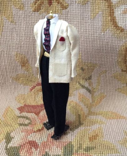 Dress Form Mannequin Figure Male 1:12 Dollhouse Miniature Clothing
