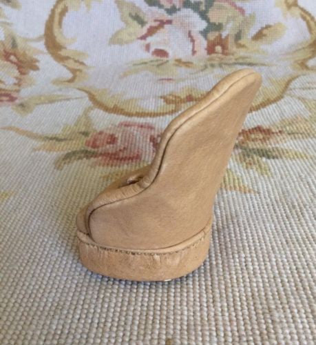 Chair Slipper Leather with Pillow 1:12 Dollhouse Miniature