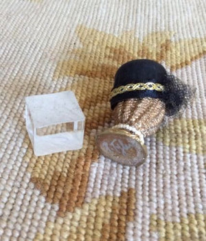 Hat Form Wicker with Hat 1:12 Dollhouse Miniature