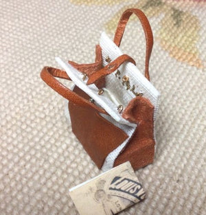 Luggage Purse Bag Valise Handbag 1:12 Dollhouse Miniature