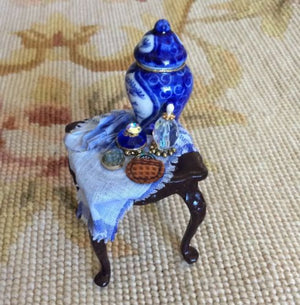 Table Stand Vase Watch Drape 1:12 Dollhouse Miniature