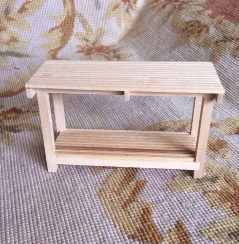 Table Bench - 1:12 Dollhouse Miniature
