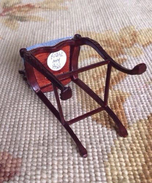 Bespaq Chair Seat Bench Stool Bar 1:12 Dollhouse Miniature