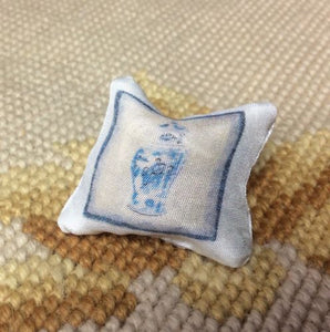 Pillow Cushion Blue & White 1:12 Dollhouse Miniature