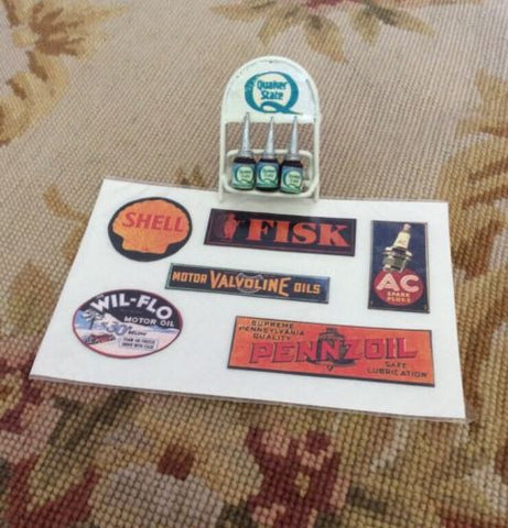 Sign Garage Station Marker Collection 1:12 Dollhouse Miniature