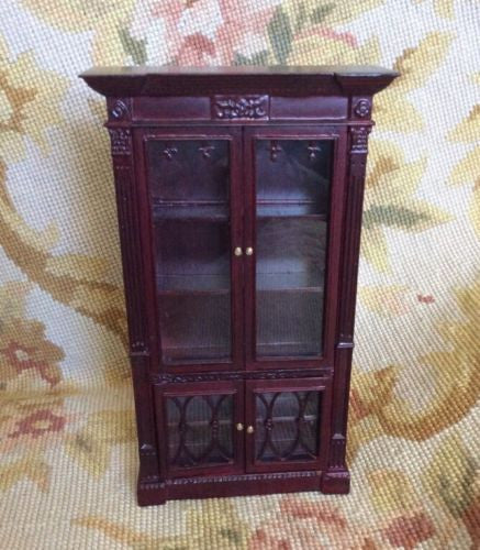 barn cabinets bookcase bookcases door with pottery o reynolds open glass products hutch modular