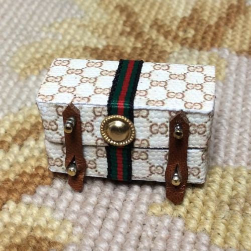Luggage Designer Bag Cosmetic Case 1:12 Dollhouse Miniature