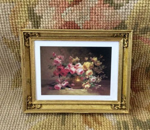 Painting Picture Flowers Large 1:12 Dollhouse Miniature Art