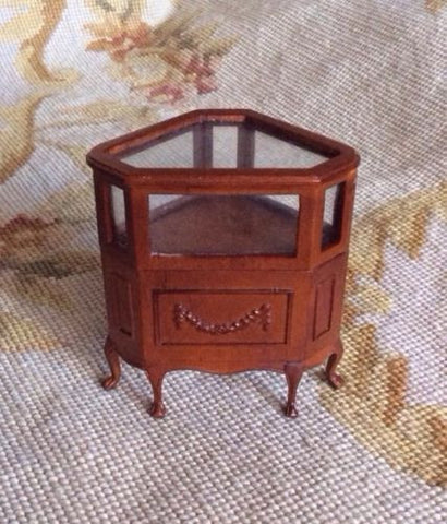 Bespaq Counter End Shelf Cabinet Case 1:12 Dollhouse Miniature
