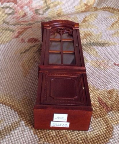 Bespaq Shelf Bookcase Hutch China Cabinet Showcase Cupboard 1:12 Dollhouse Miniature