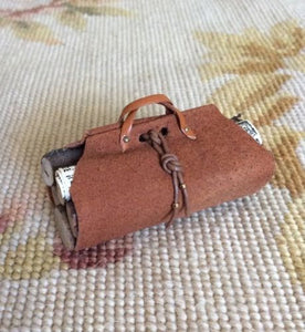 Luggage Log Wood Carrier 1:12 Dollhouse Miniature