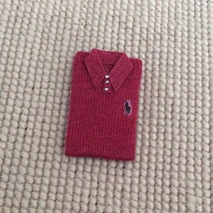 Shirt Non Wearable Polo 1:12 Dollhouse Miniature