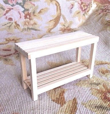 Table Console Counter Bench 1:12 Dollhouse Miniature
