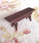 Bench Long Seat Settee Stool 1:12 Dollhouse Miniature