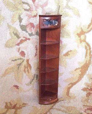 Bespaq Shelf End Cap Bookcase Hutch Cabinet 1:12 Dollhouse Miniature