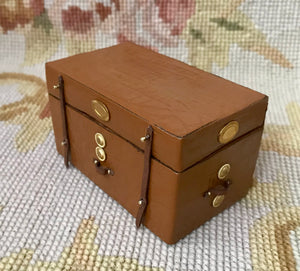 Trunk Steam Steamer Luggage Case 1:12 Dollhouse Miniature