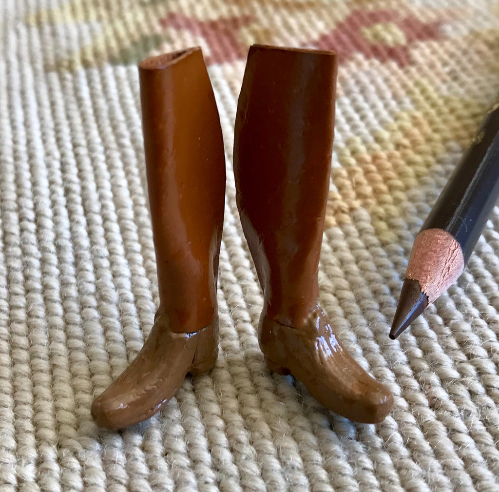 Boots with Leather Top Riding 1:12 Dollhouse Miniature