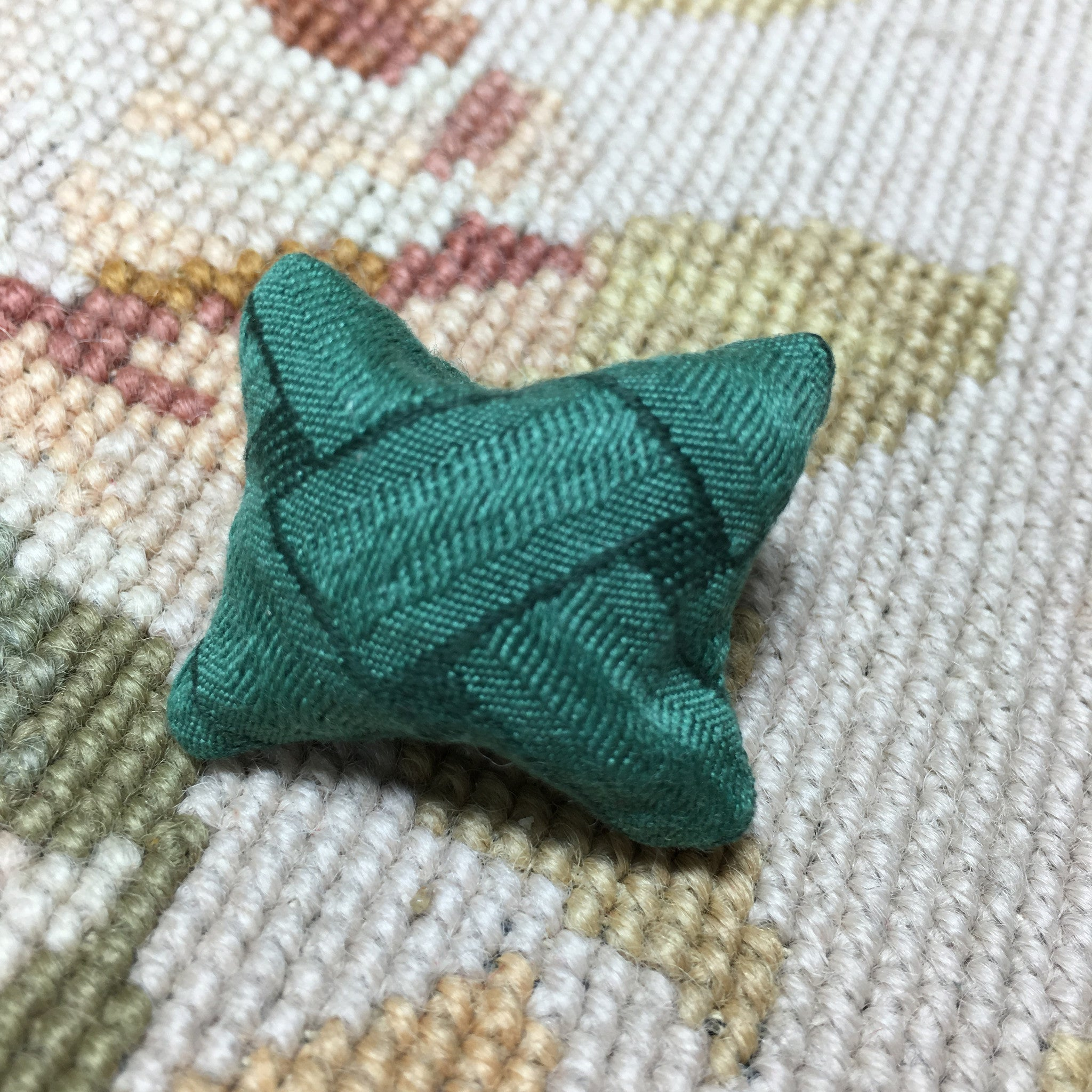Pillow Cushion Green 1:12 Dollhouse Miniature