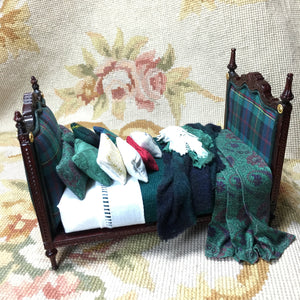 Bespaq Bed Dressed  OOAK1:2 Dollhouse Miniature