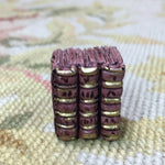 Book Stack of 3 Resin 1:12 Dollhouse Miniature