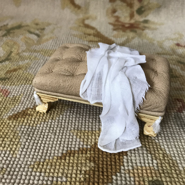 Drape for Stool Ottoman Seat Antique Sand 1:12 Scale SPECIAL ORDER Dollhouse Miniature