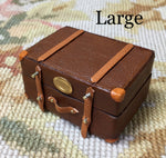 Luggage Bag Suitcase Satchel Valise Grip Large 1:12 Dollhouse Miniature