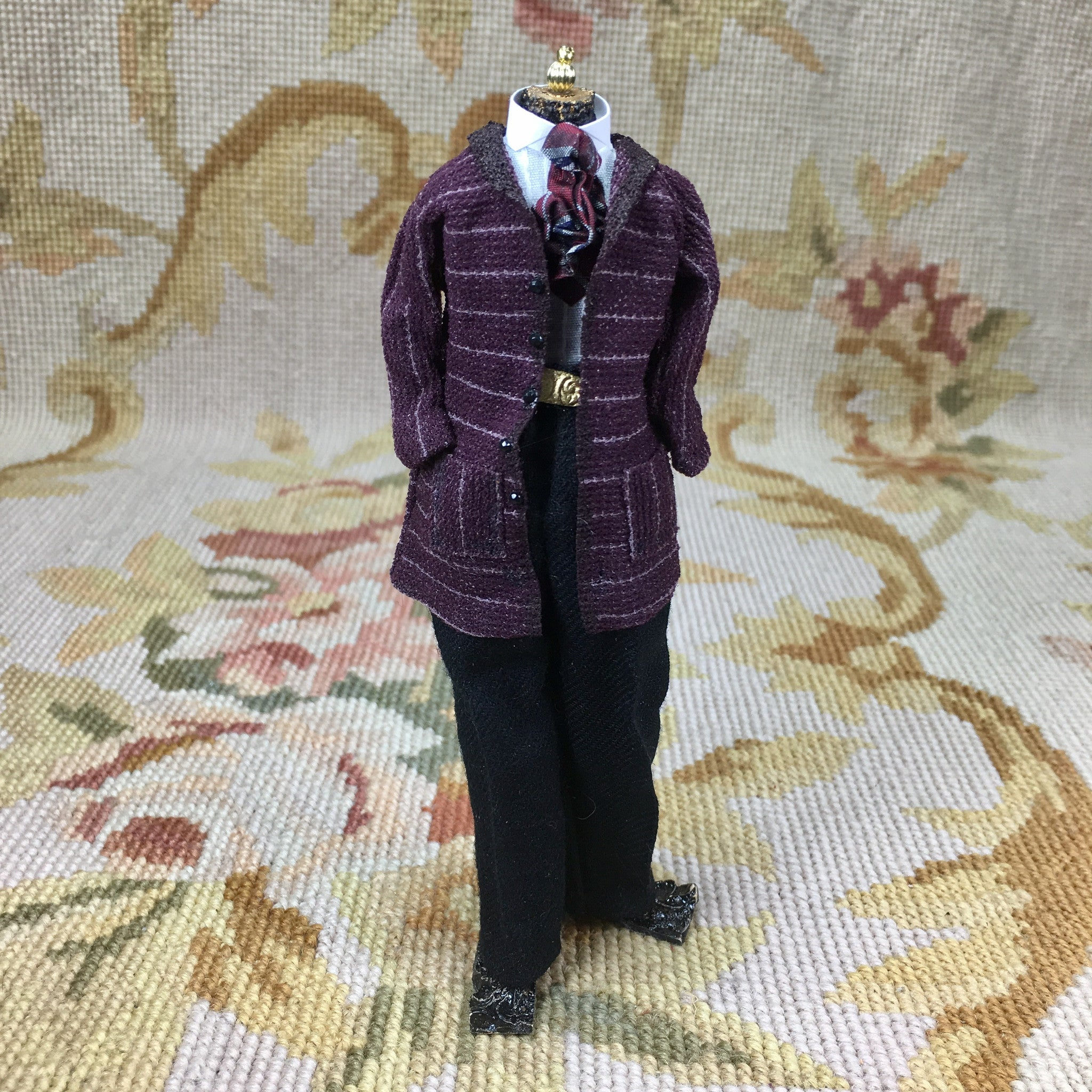Dress Form Mannequin Male Figure 1:12 Dollhouse Miniature Clothing