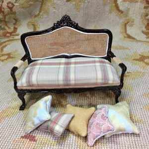 Sofa Seat Couch Lounge Divan Settee with Pillows SPECIAL ORDER  1:12 Dollhouse Miniature