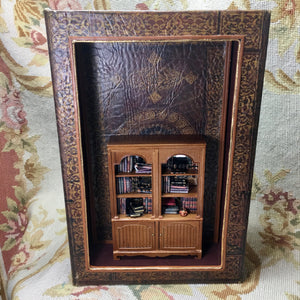 Room Box Diorama Book OOAK 1:12 Dollhouse Miniature