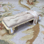 Bed Bench Stool Ottoman Seat Table Antique Sand Leather 1:12 Scale SPECIAL ORDER Dollhouse Miniature