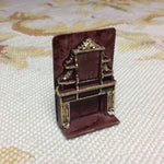 "1/4"" Scale Resin Fireplace Dollhouse Miniature"