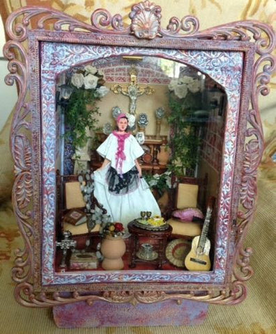 Room Box Wedding Bride 1:12 Dollhouse Miniature