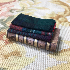 Table Stacked Blankets on Book Base 1:12 Dollhouse Miniature