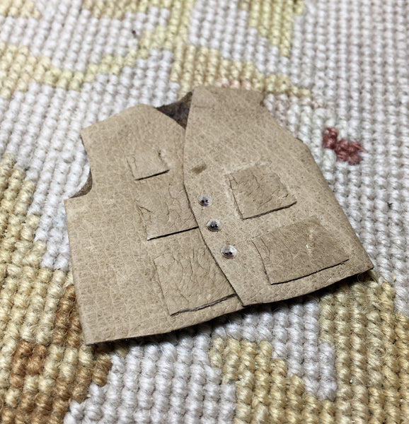 Vest with Book in Back Pocket 1:12 Dollhouse Miniature