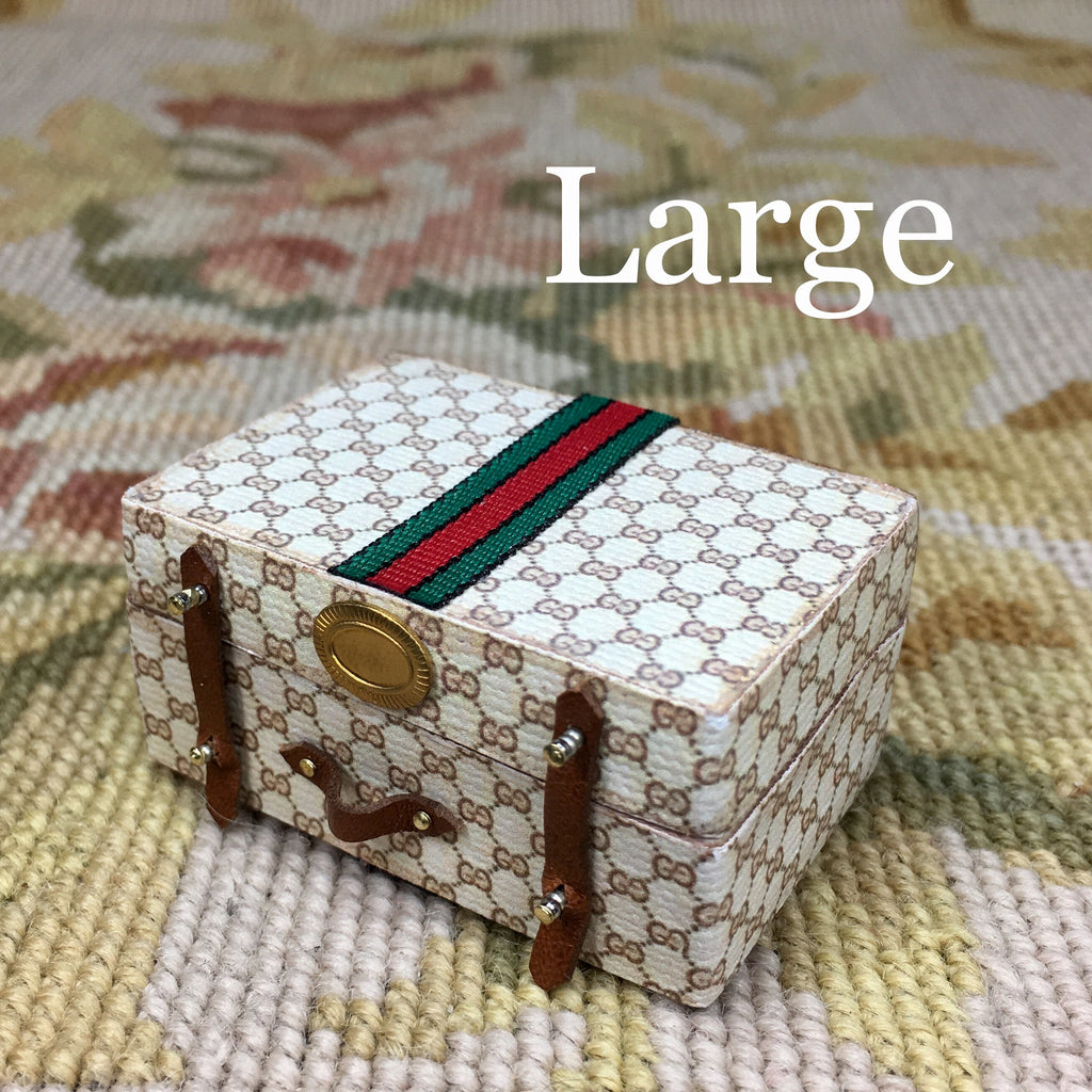 Luggage Bag Suitcase Satchel Valise Grip Designer Large 1:12 Dollhouse Miniature