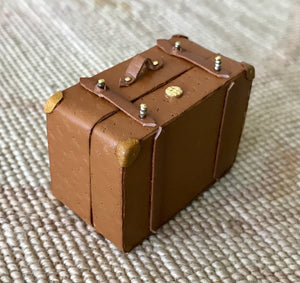 Luggage Bag Suitcase Satchel Valise Grip Medium 1:12 Dollhouse Miniature