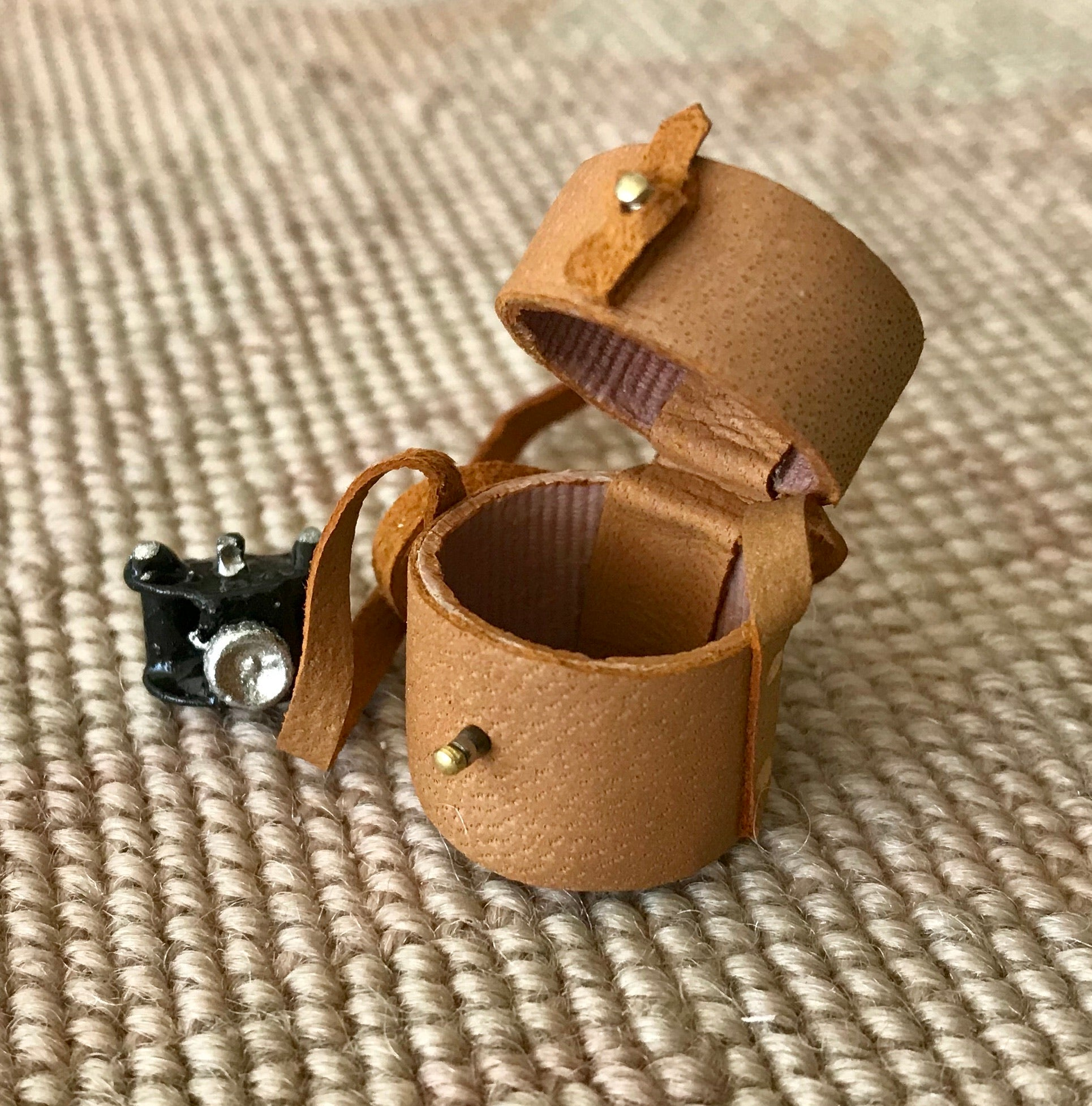 Camera with Leather Case 1:12 Dollhouse Miniature