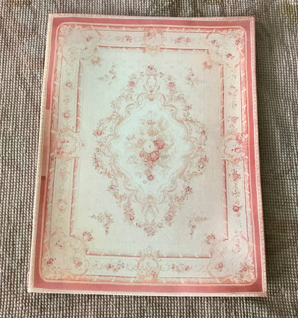 Floorcloth Rug Carpet Peach 1:12 Dollhouse Miniature