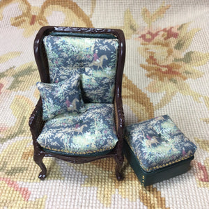 Chair Seat & Stool Ottoman 1:12 Scale SPECIAL ORDER Dollhouse Miniature