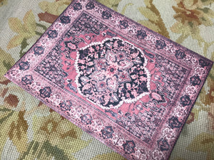 Floorcloth Rug Carpet 1:12 Dollhouse Miniature Red Tone