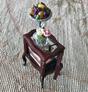 Bespaq Table Stand Display Dressed 1:12 Dollhouse Miniature