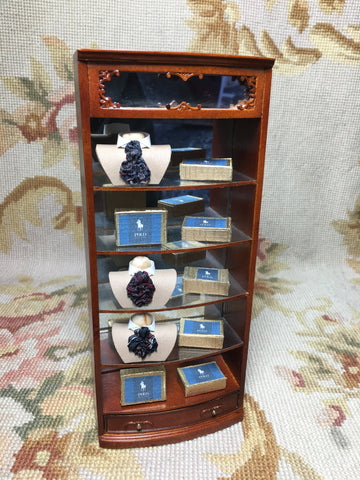 Bespaq Shelf Cabinet Dressed 1:12 Dollhouse Miniature