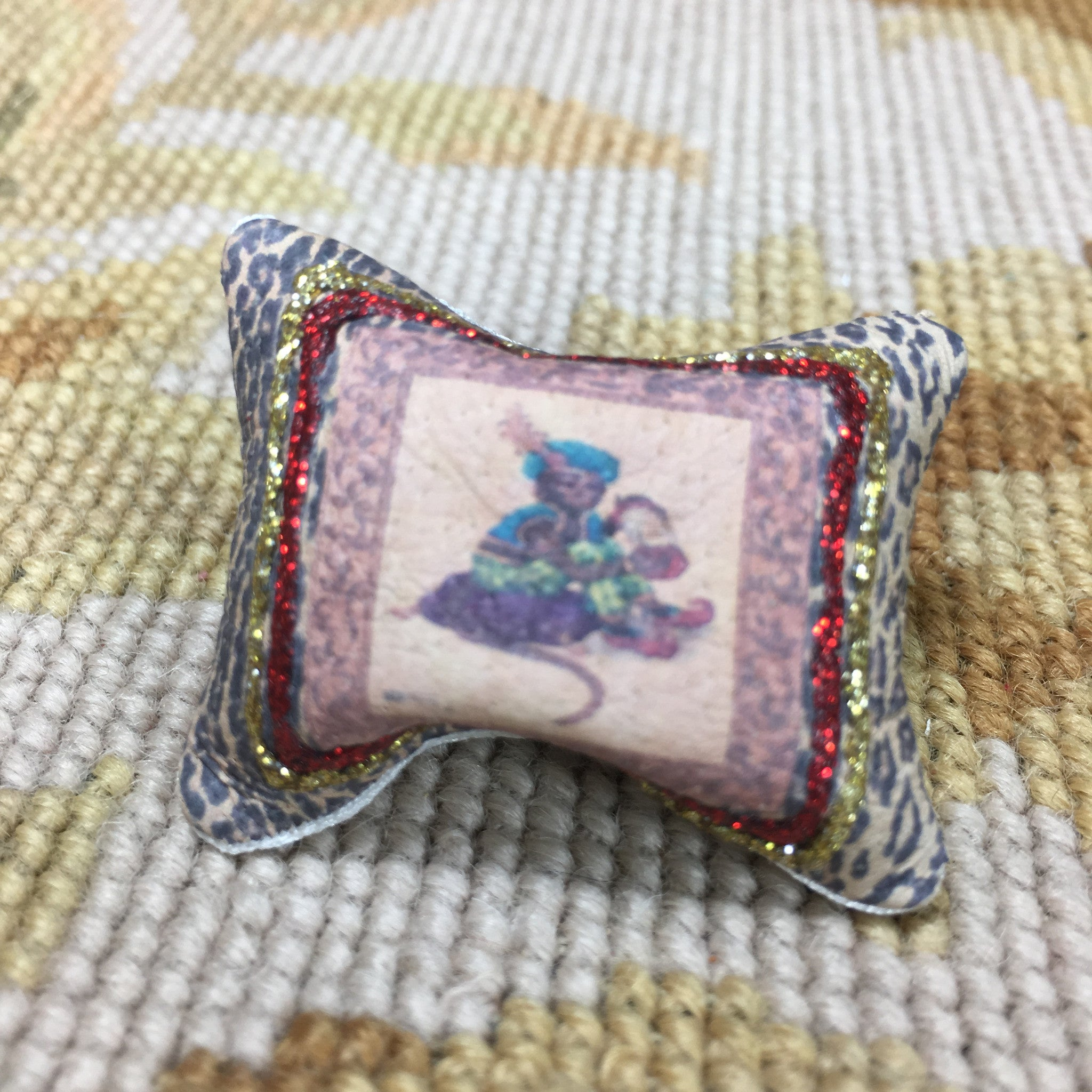 Pillow Cushion Monkey #3 - 1:12 Dollhouse Miniature