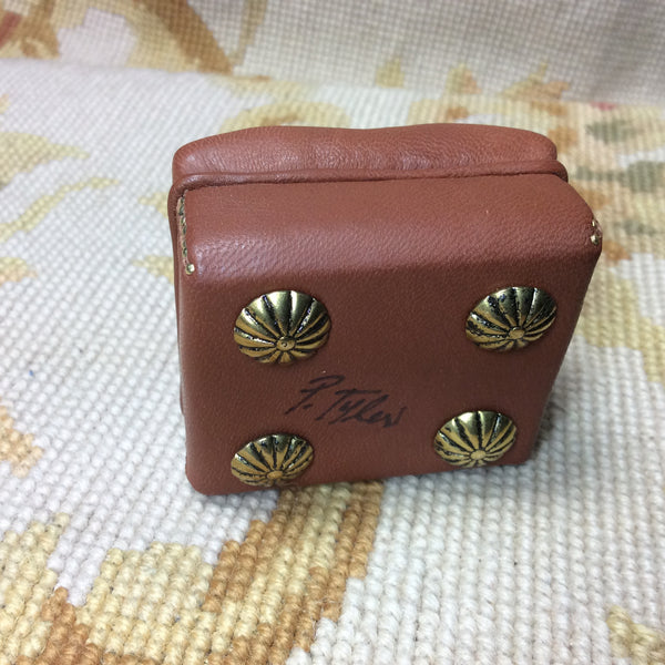 Stool Ottoman Seat Leather 1:12 Scale SPECIAL ORDER Dollhouse Miniature