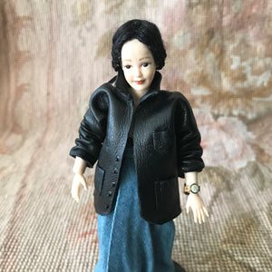 Jacket Leather Sports Coat 1:12 Dollhouse Miniature Clothing