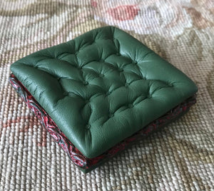 Stool Ottoman Seat Table Juniper Green 1:12 Dollhouse Miniature