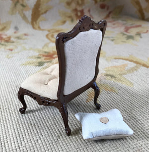 Bespaq Chair Seat Leather with Pillows 1:12 Dollhouse Miniature