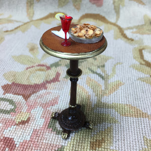 Table Stand Bar Tall Dressed with Chips Napkin 1 Cocktail 1:12 Scale SPECIAL ORDER Dollhouse Miniature