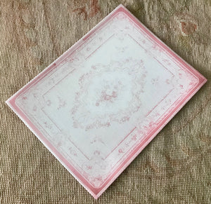 Floorcloth Rug Carpet Pink 1:12 Dollhouse Miniature